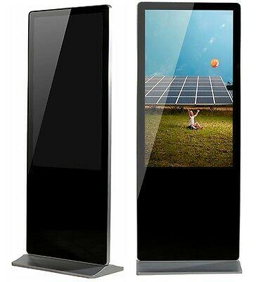 49 inch android free standing digital signage display tv