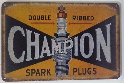 CHAMPION . Tin Metal Sign Rustic Look .. MAN CAVE . brand new. AU SELLER