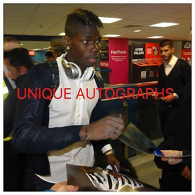 Paul Pogba Personally Signed 16x12 Photo, Juventus, France, Proof Shown 87