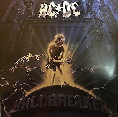 Angus Young Personally Signed Vinyl, Ball Breaker, AC/DC, Proof Shown, 1