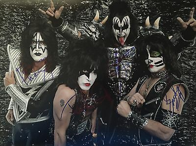 KISS Personally Signed 16x12 Photo, Simmons, Stanley, Proof Shown, 2
