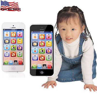 US STOCK - YPhone Mobile Phone Educational Toy Gift For Baby Kids Boys Children