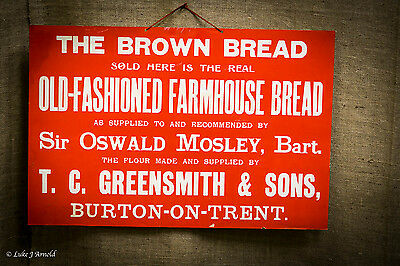 Sir Oswald Mosley Bread Advertising Poster