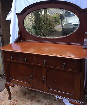 Georgian Mahogany Mirrored Sideboard.