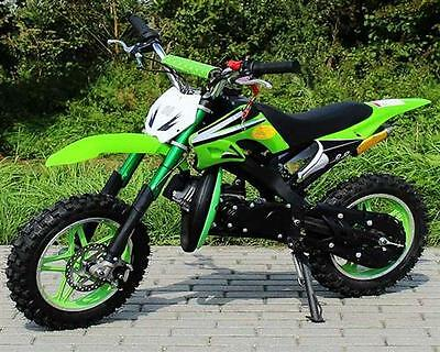 Dirt Bike 49cc DELTA grün Cross Pocket Crossbike Motocross Kinder Enduro NEU