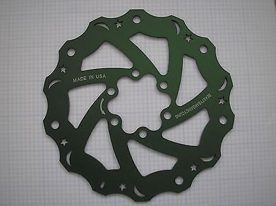 1 Made in USA Beastybargains 160mm- 6 bolts Mount Wavy Rotor or Rear -MTB-Green