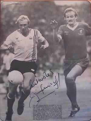Jimmy Greenhoff Signed Manchester United A4 Magazine Poster