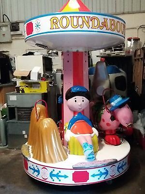 Magic Roundabout Kiddie Ride  -   Carousel Used Working