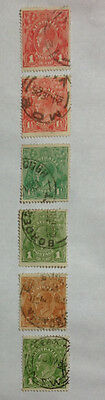 Australia GV 54 used stamps includes OS overprint & VG perfin - 3 photos.