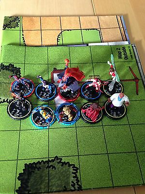 Heroclix, Job Lot, Two Maps, Wolverine, Spider-Man, Marvel, DC