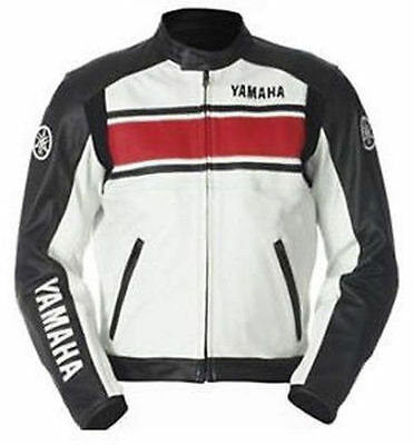 Qmuk Yamaha Motorbike Leather Jacket - Ce Approved Full Protection