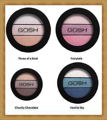 NEW GOSH Eyelight Trio Make-Up 3 Eye Shadow Textures in Palette-Different Shades