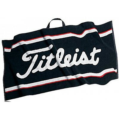 "Titleist Golf Players Towel Black 16"" x 24"" Cotton Microfibers NEW! Absorbent"