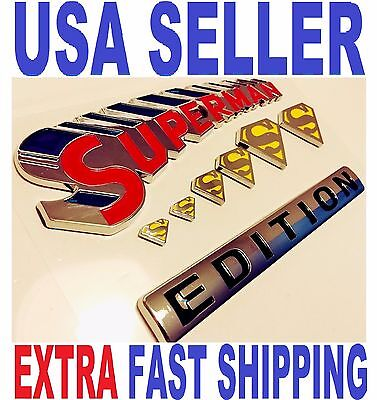 SUPERMAN EDITION emblem car TOOLES TRUCK boat SUV LOGO decal SIGN iPhone 7 6 5 4