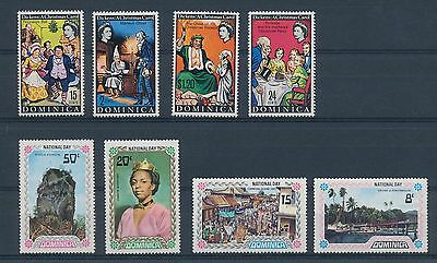 LF68157 Dominica    nice lot of good stamps MNH