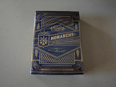 Monarchs Gold Foil Navy Blue Bicycle Deck Of Playing Cards Magic Tricks Collect