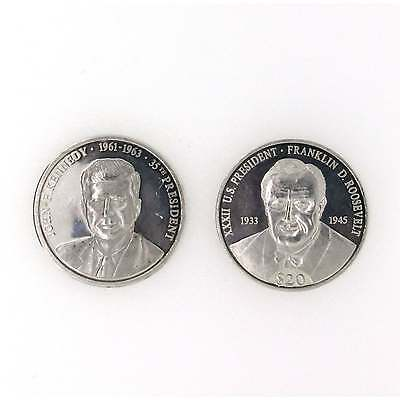 President Of United States Of America Silver Coin John F Kennedy Collection 999