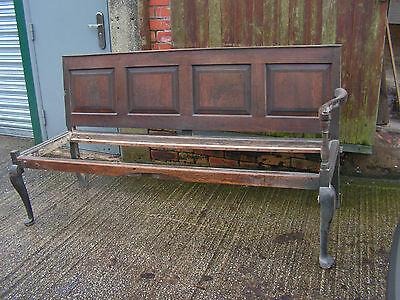 ANTIQUE EARLY 19th CENTURY ENGLISH OAK 4 PANEL BACK SETTLE BENCH OR RESTORATION