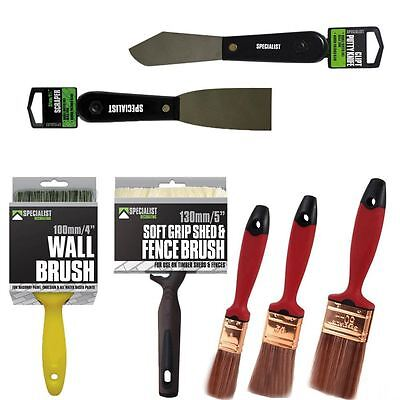 Specialist Decorating Tools | Brushes Scraper Putty Knife | DIY Home Work Trade