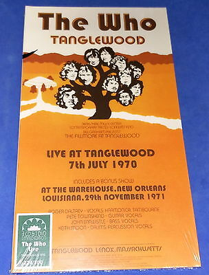 the WHO Live @ Tanglewood 1970 (3CDs+1DVD)(longbox) sealed