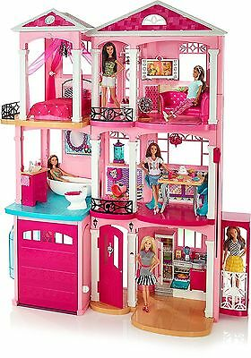 BOX DAMAGED Girls Barbie 3 Storey Doll Dream House Play Set With Furniture