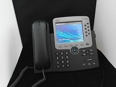 Cisco CP-7975G IP Voip Phone Color Display 8 Lines GBit Ethernet gebraucht used