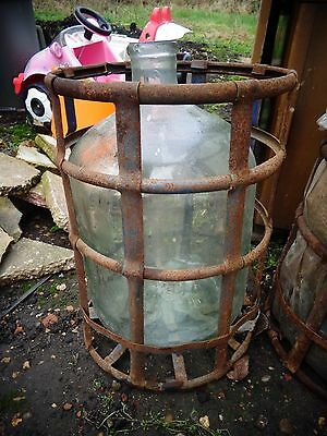 Vintage Carboy and Stand - Carboy - Demijohn