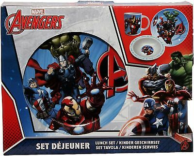 Marvel Avengers Three Piece Ceramic Lunch And Dinner Set By BestTrend