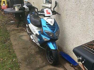 2003 Peugeot Speedfight Blue/white