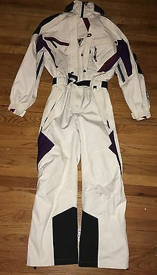 Helly Hansen White Equipe One Piece Vented Waterproof Ski Suit With Hood Small