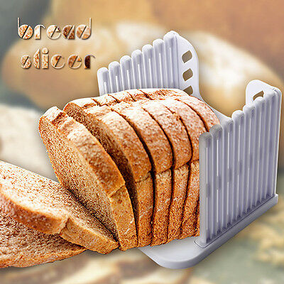 Loaf Toast Bread  Slicer ABS In White-Cutting 6 Pieces At  A Time 15x16x15.8cm
