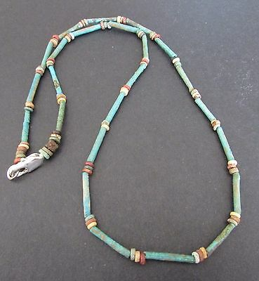 NILE  Ancient Egyptian Faience Mummy Bead Necklace ca 1000 BC