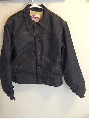 Vintage Men's Rappers With Sherpa Lined Denim Jacket Made In USA Size 36 NOS