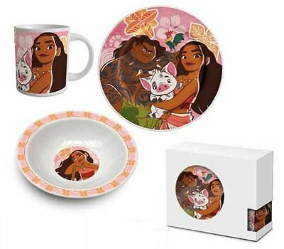 Disney Moana Three Piece Ceramic Lunch And Dinner Set By BestTrend