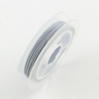 1 x 10m Steel WHITE Tiger Tail Beading Wire 0.45mm Craft Jewellery Making