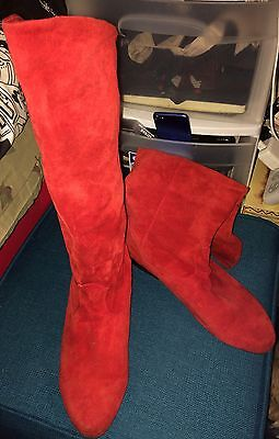 Royal Guard Red Velvet Boots Size 10