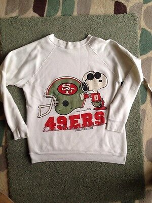 Vintage Snoopy San Francisco 49ers Sweatshirt Size S 70s Hipster