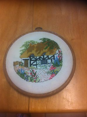 Floral/cottage cross stitch completed
