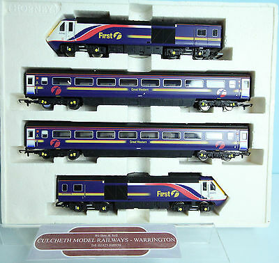 Hornby Oo R2299 'great Western' Trains Hst Class 43 Train Pack Inc Coaches #69Y
