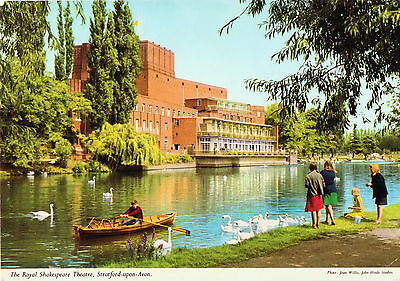 Postcard, Warks, Stratford upon Avon Theatre; colour; used good 6x4 ins approx