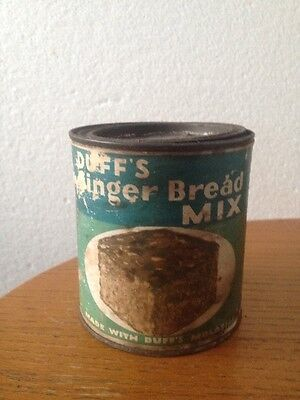 Duff's Ginger Bread Mix Old Kitchen Can Paper Label Rare!!!!!