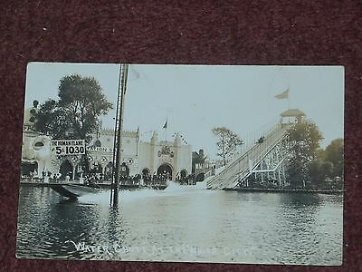 Water Chute at the White City Amusement Park, Old Trafford, Manchester postcard