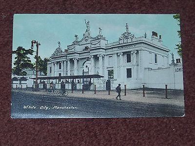 White City, Old Trafford, Manchester postcard Amusement park gates