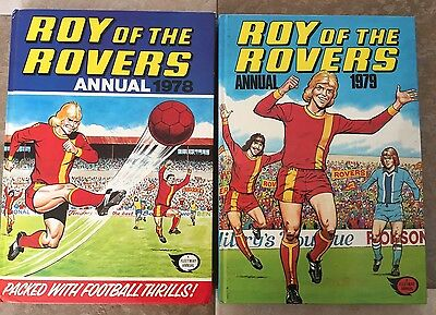 Roy Of The Rovers Annuals 1979 & 1978 Hardback Books