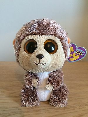 "Genuine TY Beanie Boo (Boos) Spike the Hedgehog 6"" Solid Eyes with Tags"