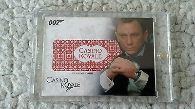 2007 The Complete James Bond Playing Card Relic #RC17 - Casino Royale