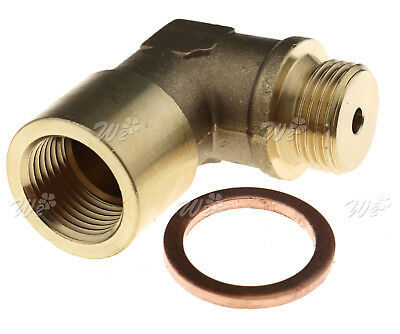 Brass Oxygen Sensor Extender O2 90 Degree Angled Bung Extension Spacer M18 1.5