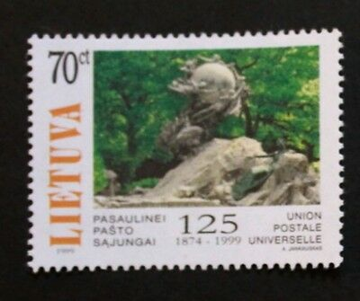 125th anniversary of universal postal union stamp, 1999, Lithuania, MNH