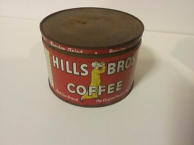 Vintage Hills Bros. One Pound Coffee Can Tin