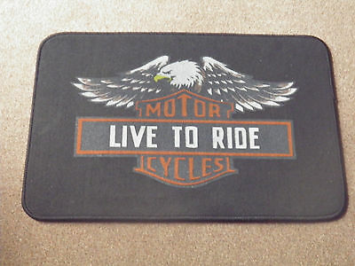 """Live To Ride Motorcycles"" Doormat."